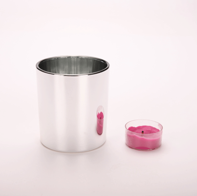 Upc индивидуальный дизайн 250 мл многоразовые прозрачного стекла свечи jar пустой