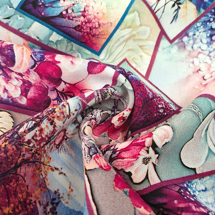 High Quality Digital print 50 rayon 50 viscose fabric stock from shaoxing
