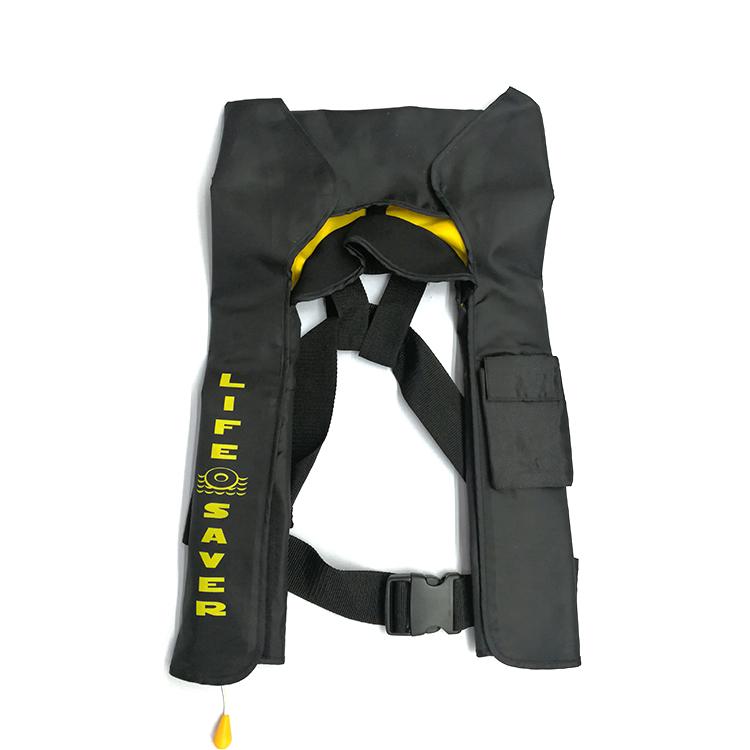 Adult marine inflatable life jacket vest