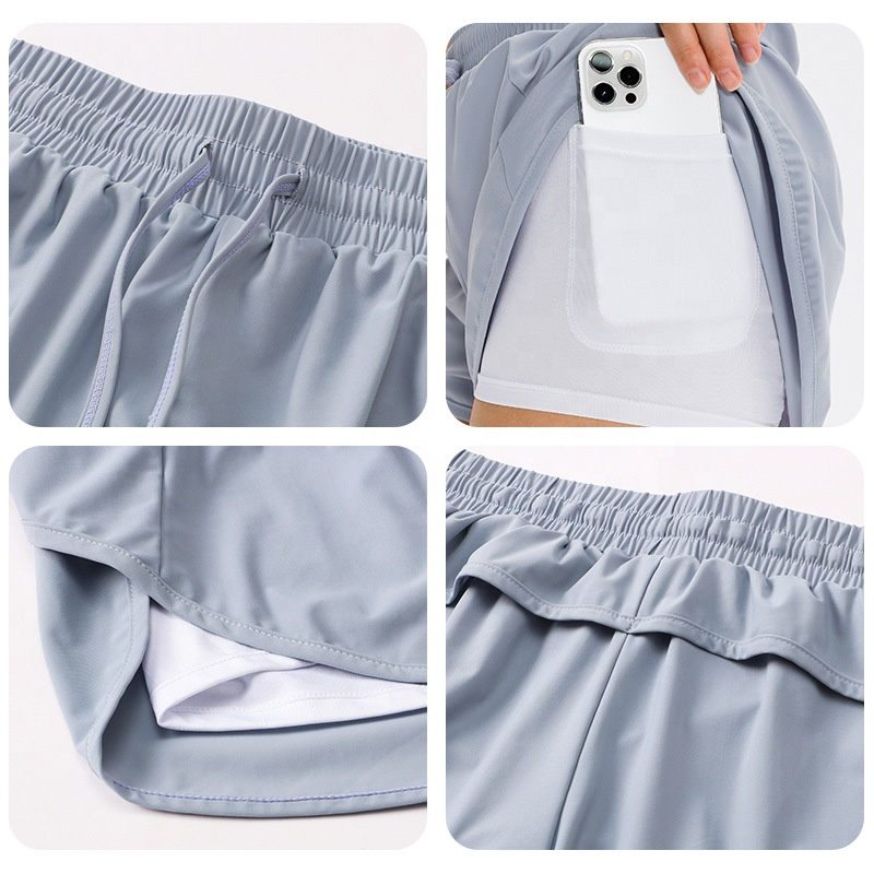 High Quality Quick Dry Fitness Gym Cycling Running Training Women Sport Shorts