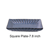 Blue Square Plate-7.8 inch