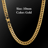 10mm Gold Lobster Clasp Cuban Chain