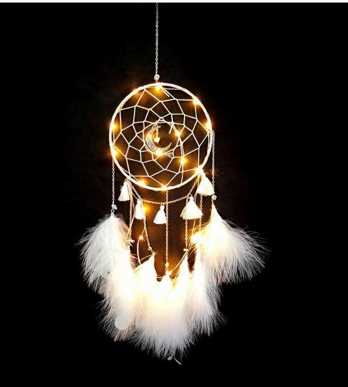 Оптовая продажа, украшение «Ловец снов» из перьев, традиционные ветряные колокольчики ручной работы, подвесной Ловец снов