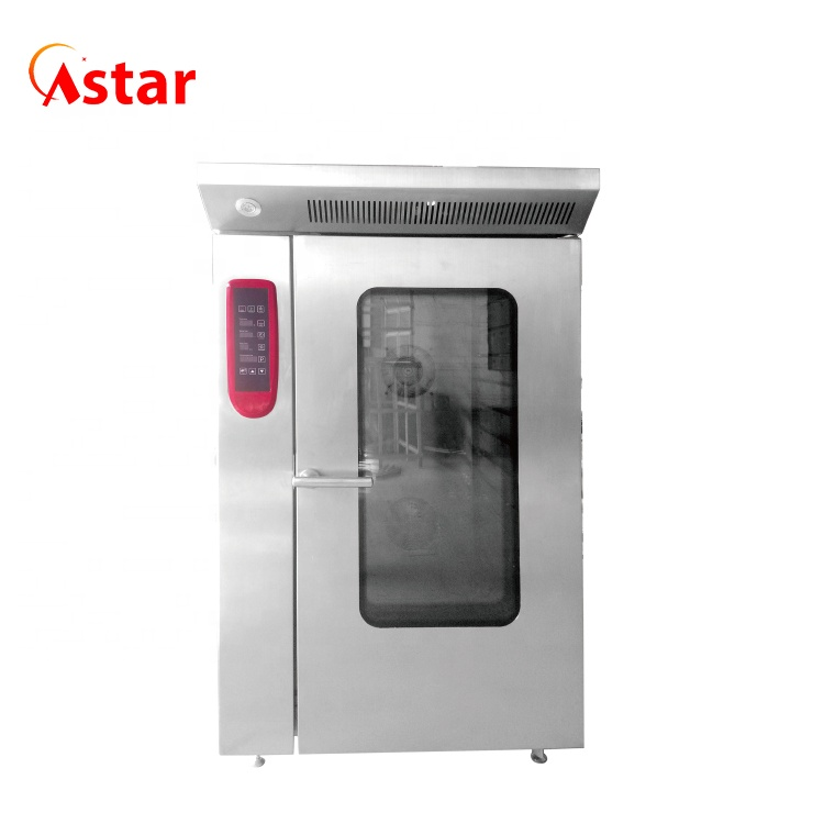 Restaurant Application Steamer Function Gas Powered 12 Trays Hot Air Convection Oven with Trolley
