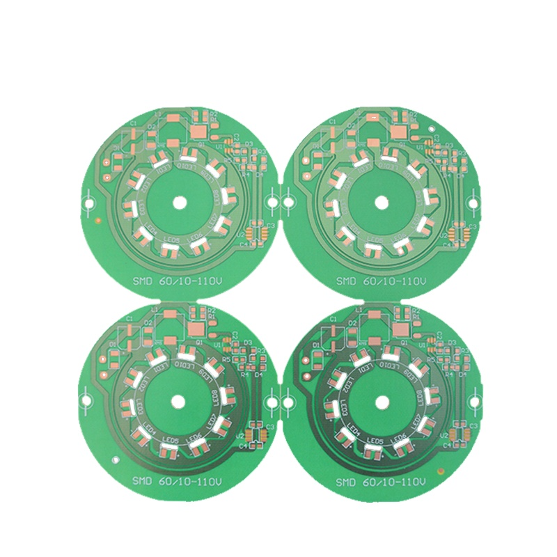 94v0 PCB Circuit Board With Rohs FR-4 Multilayer PCB Prototype Aluminum Based Led Light PCB