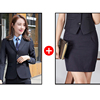 Women Navy suits(blazer+Skirt)
