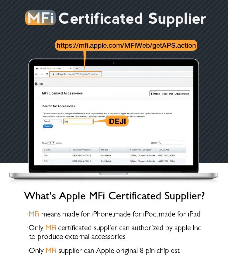 MFI супер прочный стальной провод плетеный кабель для передачи данных для телефона USB2.0 2.4A Быстрая зарядка MFI сертификат кабель