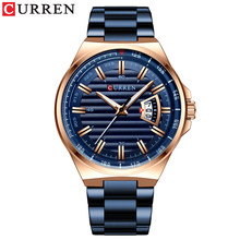 Топ люксовый бренд Мужские часы CURREN Мужские полностью стальные водонепроницаемые спортивные армейские военные кварцевые наручные часы Reloj...(Китай)
