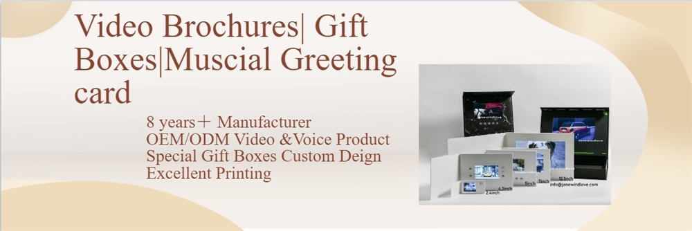 Box gift packaging Lcd video brochure mould Marble video gift box