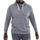 Bamboo Fitness Bamboo Cotton Wholesale Custom Mens Pullover Ribbed Trims Drawstring Hood Hoodies