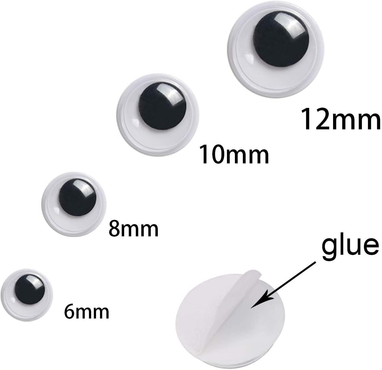 1000 шт., Пластиковые самоклеящиеся глаза для украшения творчества