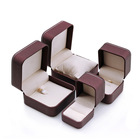 Jewelry Box Silver Round Necklace Box RuiKaiLi PU Leather Jewelry Jewelry Box Round Corner Silver Jewelry Necklace Ring Box