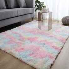 Motley плюшевые ковры для гостиной, мягкий пушистый ковер, домашний декор, лохматый ковер, диван для спальни, журнальный столик, напольный ковр...(Китай)