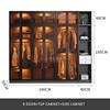 6 door+top cabinet+side cabinet