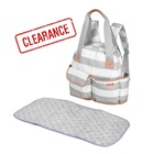 Quick Delivery Stock Large Capacity Mummy Nurse Bag Change Pad Baby Bags For Mothers With 12 Pockets