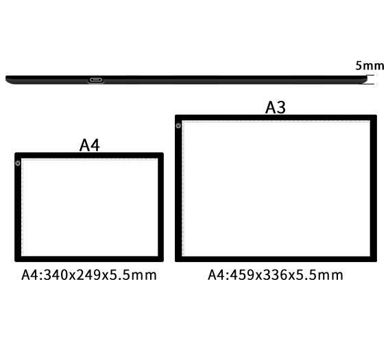 Лидер продаж на Amazon, светодиодная подсветка A4 A3, Прямая продажа с завода, светодиодная подсветка, подкладка для рисования