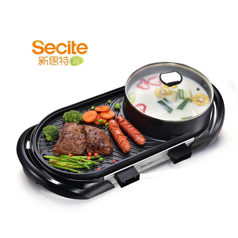 Электроприбор для домашней кухни на 6 человек, электрический гриль для барбекю