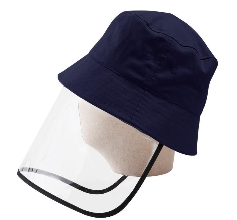 AAA586 Fashion 3-12 years Old Cotton Outdoor Kids Cap Dustproof Children Caps Clear Plastic Windproof Student Bucket PVC Hat
