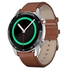 Black dial-brown leather