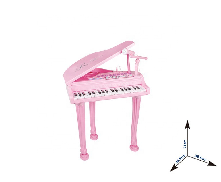 Kids music instrument toy piano with pink princess microphone and chair musical toys for sale Ideal Gift For Kids