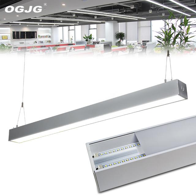 OGJG ETL cETL up and down pendant tube aluminum profile lighting lamps office linkable led linear light
