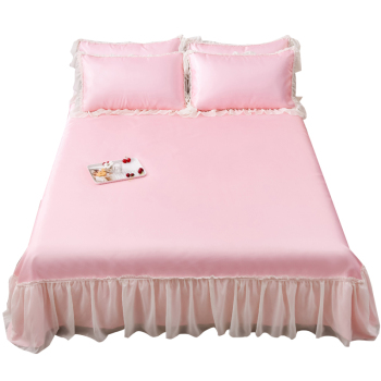 Nantong Factory Princess Lace Bedding Sets With Pillow Cases Cooling Sheets Bed Skirts Decorative Bedsheet