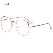 Новые модные женские и мужские металлические винтажные круглые очки, большие очки в оправе, оптическая оправа для очков, очки с прозрачными ...(Китай)