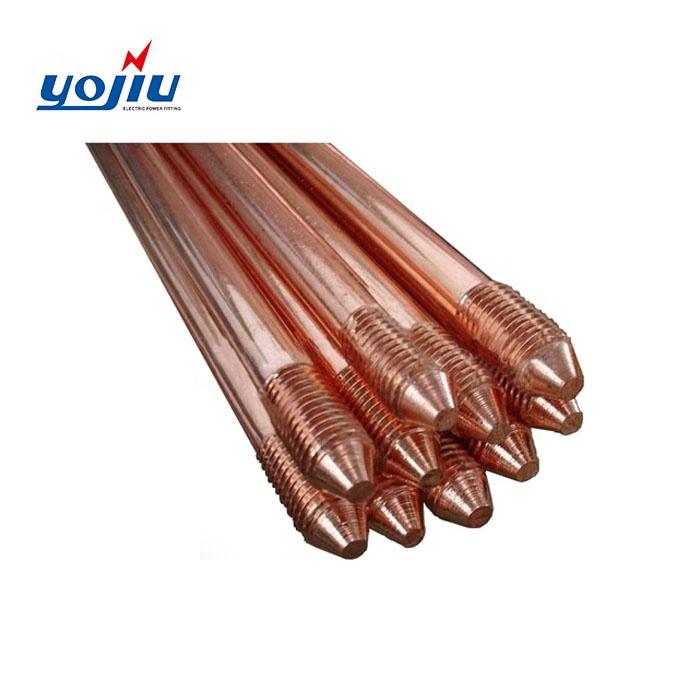Цена copperweld одетый стальной медный заземляющий земли стержень для сетевая система материал