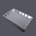Butter plastic disposable party rectangle transparent dishes dish