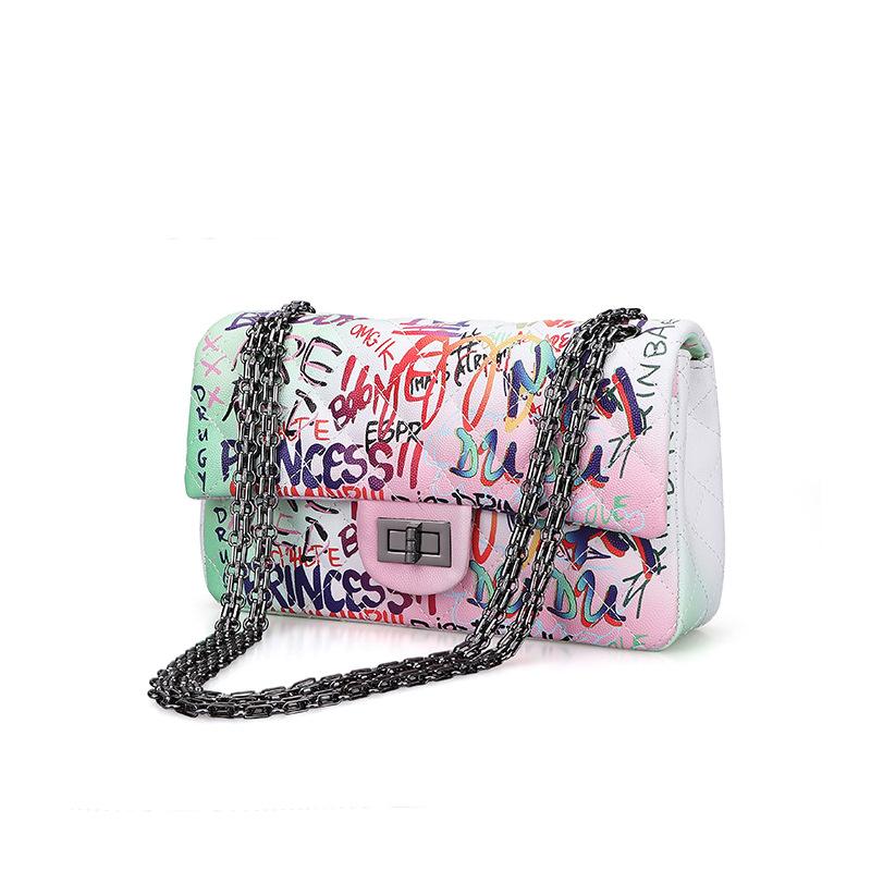 2021 New Shoulder Bag Chains Messenger Bag Fashion Girls Casual Handbag Simple Leisure Personality Small Square Women Bag
