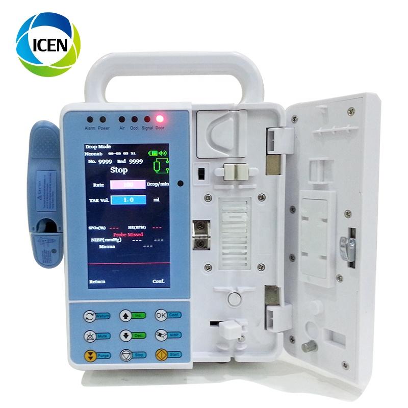 IN-G076-1 4,3 дюйма автоматический дешевый медицинский инфузионный насос, производители медицинских инфузионных насосов