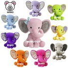 2021 Pretty Pink Plush And Stuffed Baby Elephants Toys With Big Ears Wholesale Cheap LOW MOQ Colorful Soft Toy Plush Elephant