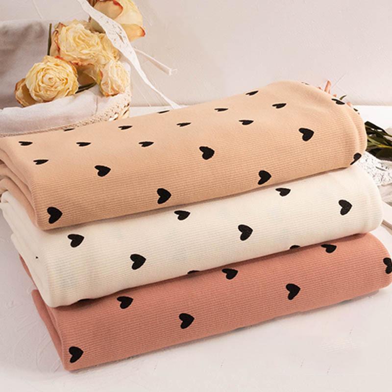 Stock knitted stretch 94% cotton 6% spandex digital printing rib fabric