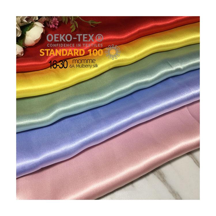 Spot mulberry silk fabric 16 19 22mm 100% pure silk satin fabric with OEKO-TEX100