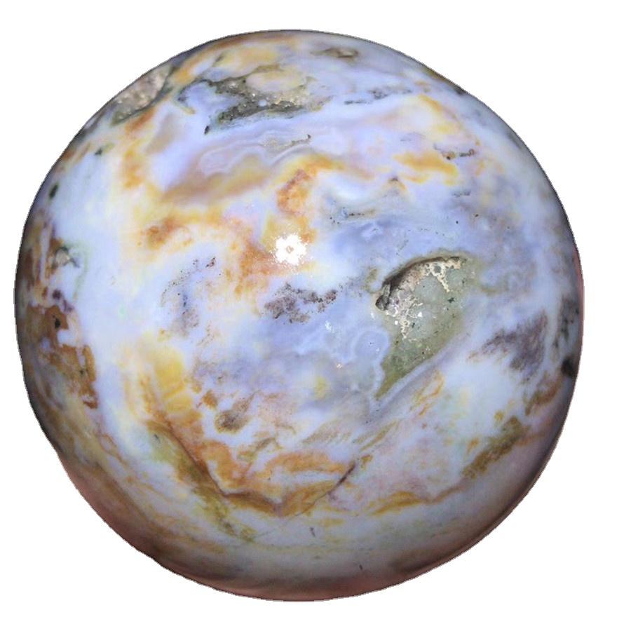 Healing Beautiful Natural Ocean Jasper Polished Quartz Crystal Stones Ocean Jade Stone Spheres Balls