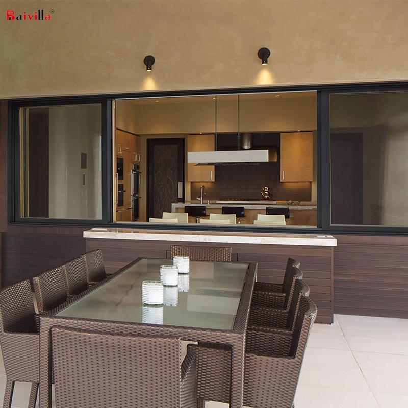 Производители Фошань, алюминиевая рама, Горизонтальное раздвижное окно, рынок Танзании, индивидуальные двери и окна