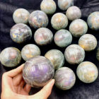 Purple Labradorite Labradorite Purple New Products Purple Labradorite Crystal Ball Wholesale Polished Labradorite Sphere For Healing