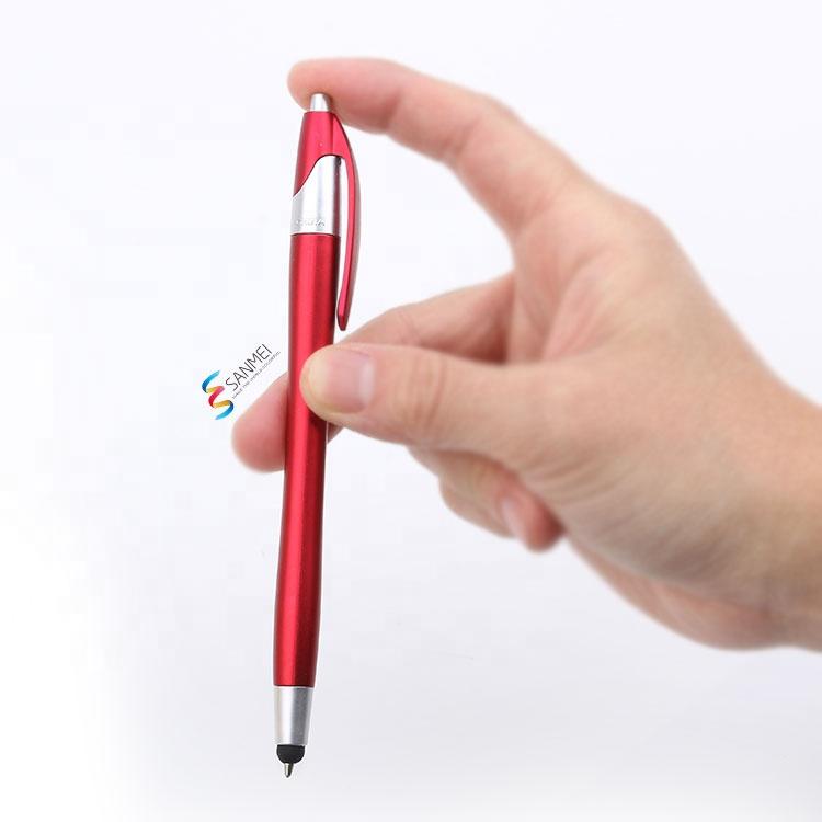 Рекламные черный современный 2in1 Многофункциональный стилус шариковая ручка