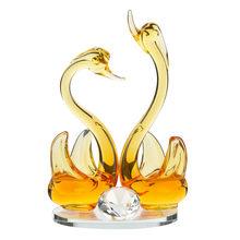 Кристалл лебедь Свадебный декор пресс-папье фигурка подарок ремесла домашний декор миниатюрные украшения декор рукоделие сувенир 2020(Китай)