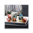 Set Wholesale High Quality Wholesale Game Custom Logo Party Metal Dice Set