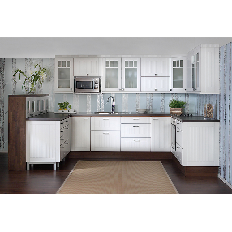 High Quclity Modern Fashion Style Personalized Panel Wood Style Kitchen Cupboards