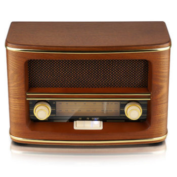 Retro FM AM Radio Built-in Speaker with Home Radio