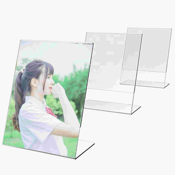 2019 new High quality L shape small make up display Stand with advertising poster