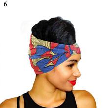 Широкий ободок с принтом в африканском стиле, Классический Модный женский ободок с цветочным принтом, повязка на голову, аксессуары для вол...(Китай)