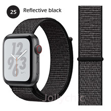 Нейлоновый ремешок на липучке для Apple Watch Series 5 4 3 2 полосы 40 мм 44 мм дышащая сменная Спортивная петля для iwatch 38 мм 42 мм Новинка(Китай)