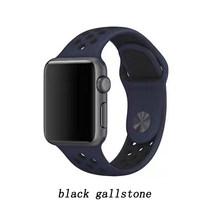 Роскошный резиновый 42 мм 38 мм 40 мм 44 мм ремешок для iwatch спортивный браслет для Apple силиконовый ремешок часов серии 5 и 4 и 3 и 2 и 1(Китай)