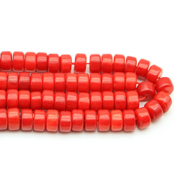 Wholesale gemstone loose beads red coral abacus gemstones beads for pendants