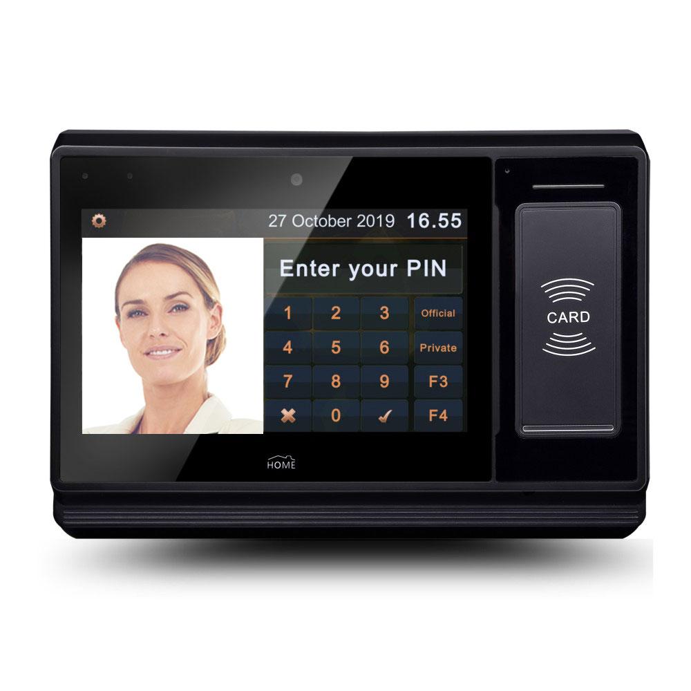Все-в-одном 7 дюймов Android в реальном времени отпечатков пальцев биометрическая система посещаемости времени с NFC кард-ридер, камера