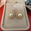 Color 2 Pearl Stud Earrings