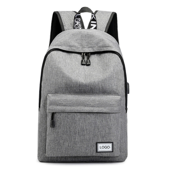 Fashion Simple Design School Backpack with USB Travel Business Backpack